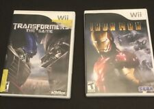 Wii Nintendo lot 2 games rated T Transformers Iron Man