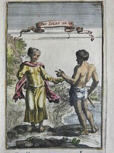 Sunda Islands Indonesia ethnic costume print view 1683 Mallet hand color print