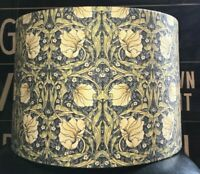 MADE TO ORDER LAMPSHADE WILLIAM MORRIS PIMPERNEL FABRIC BLUE GREEN CREAM LEMON