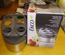 Ekco KITCHENWARE CADDY 7 Slot Utensil Holder Metal Dual Position Design Box