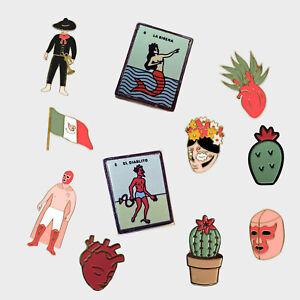 Pins Mexican edition Flag |Luchador|Diablo|Sirena|Nopal, Badge Pin Unique Design