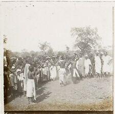 Afrique Danse Nu Colonialisme Plaque stéréo Positif Vintage ca 1910