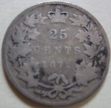 1872 H Canada Silver Twenty-Five Cents Coin. (UJ3)