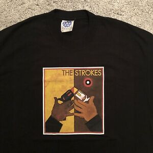 The Strokes Vintage Unworn 2003-04 Room on Fire T Shirt (XL) tee Rare DEADSTOCK