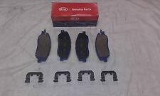 Genuine Kia Sorento MKI MKII Front Brake Pad Set + Retainer Clips 581012PA70