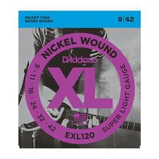 D'Addario EXL120 Nickel Wound Super Light  Electric Guitar Strings 9-42