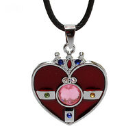 Anime Sailor Moon Metal Heart Pendant Necklace Girls Cute Cosplay Jewelry Gifts