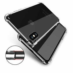 Shockproof iPhone XS Max XR Case X Crystal Clear Soft Gel Tough COVER For Apple