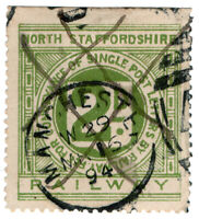 (I.B) North Staffordshire Railway : Letter Stamp 2d (Manchester)