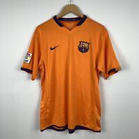 Nike Sphere Dry Mens Barcelona Football Soccer Jersey Size Large Orange Pre 2010