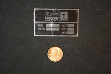 Metal IDplaque-Hittman Medcraft metal ID sign.ECT Medical.Skippack,PA=melaneybuy
