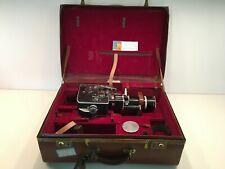 Vintage Paillard Bolex H 16 Reflex 16mm Film Movie Camera With Case, Accessories