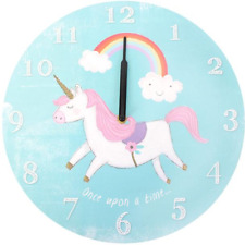 Blue Round Ernie the Unicorn Wall Clock