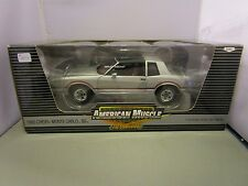 ERTL 1/18 AMERICAN MUSCLE SILVER 1985 CHEVY MONTE CARLO SS NEW IN BOX