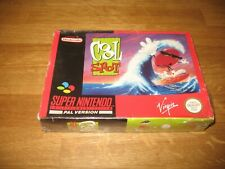 SNES game - Cool Spot (sealed but torn sellophane complete in box PAL)
