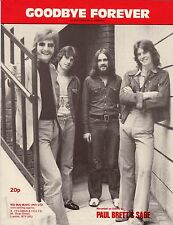 Paul Brett's Sage-Goodbye Forever-1971 Sheet Music-Original UK issue-Mega rare!