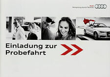 Prospekt Audi Probefahrt 11/04 Autoprospekt 2004 Technologie e-tron g-tron TT R8