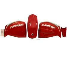BRP Evinrude Boat Outboard Engine Cowling 5401003 | V6 E-TEC Red (4 PC Set)