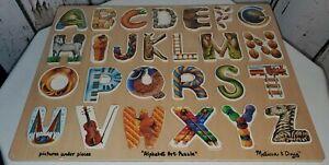 """NWOT Melissa & Doug Alphabet Art Puzzle Pictures Beneath Letters 15""""X12"""""""