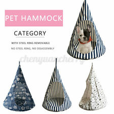 Removable Pet Cat Conical Hammock Hanging House Bed Cage Soft Washable Tent  >