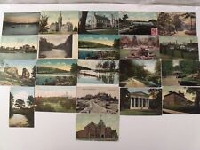 CONNECTICUT CT PRE-LINEN 21 POSTCARD LOT PRE-WWI AND WW1 ERA STARS & STRIPES 134