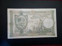 Banknote,Belgium,1943 (VF)1000 francs.