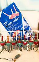 Vintage NOMA Christmas Bubble Light Set,  7 Light Set Original Box