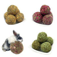 Pet Teeth Chew Grinding Natural Carrot Rose Grass Ball Toys For Rabbit Hamster