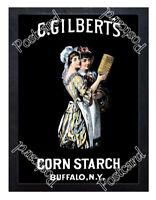 Historic C Gilbert's Corn Starch 1899 Advertising Postcard