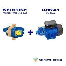 Kit Autoclave Elettropompa LOWARA PM30 Press Control WATERTECH 1,5 Motore Acqua