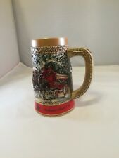 "Budweiser Collector Christmas Beer Stein ""C"" Series Clydesdale Mug"