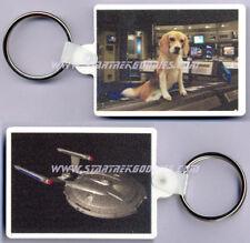 Star Trek: Enterprise Keyring - Archers Pet Beagle Porthos and Nx-01 Mint!