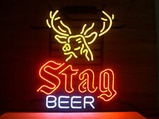"""New Stag Beer Neon Light Sign 17""""x14"""""""