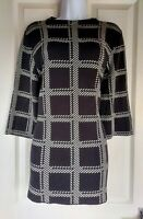 Womens Matalan long Jumper size medium black white check winter casual comfy