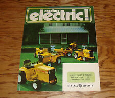 Original 1972 GE General Electric Cordless Tractor Mower Foldout Sales Brochure