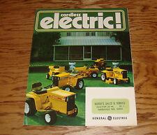 Original 1972 GE General Electric Cordless Tractor Mower Foldout Sales Brochure