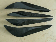 4pcs Carbon Fiber Front Bumper Canards For 2013 + Toyota 86 Scion FRS