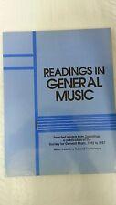 Readings in General Music  by L. Pogonowski   Music Educators 1988