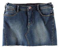 Rock Gr. 34 Blau Mini-Rock Rock Jeans-Rock Stretch-Rock NEU