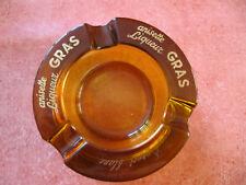 Cendrier publicitaire vide poche anisette liqueur gras verre épais cognac cadeau