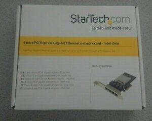 StarTech 4 Port PCI-E Gigabit Ethernet Netzwerkkarte ST4000SPEXI Intel i350 SFF