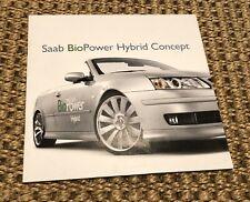 Scarce Saab 9-3 BioPower Hybrid Convertible Concept Brochure