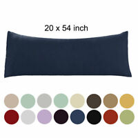 20x54 Body Pillow Case Soft 1800 Series Microfiber 1/2pack Long Body Pillowcases