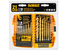 DEWALT Pilot Point Drill Bit Set 21 Piece Twist Drilling Bits Power Tool Kit New