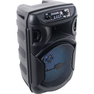 """Technical Pro BOOM8 Portable Rechargeable 8"""" LED Party Speaker w/Bluetooth/USB"""