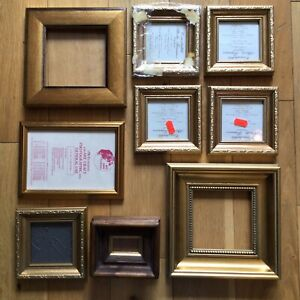 Mixed Job Lot Miniature Small Picture Photo Frames Art Painting Crafting x9