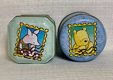 Disney Winnie the Pooh Piglet Tin Set of 2 Collectibles Decorative~