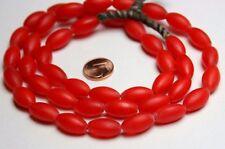 Strand 70 cm red oliva fulani boemiano commercio perline