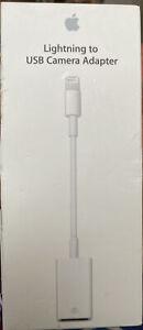Genuine Apple Lightning-to-USB Camera Adapter (Model MD821ZM/A) - Sealed - New