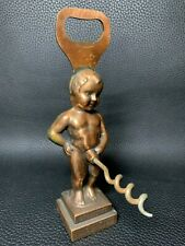 More details for vintage collectable bruxelles peeing boy brass ornament corkscrew bottle opener